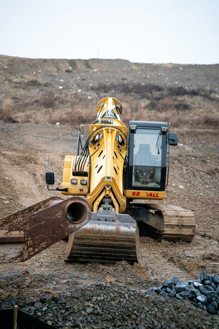 Gradall Excavator at a Dirt Job Site