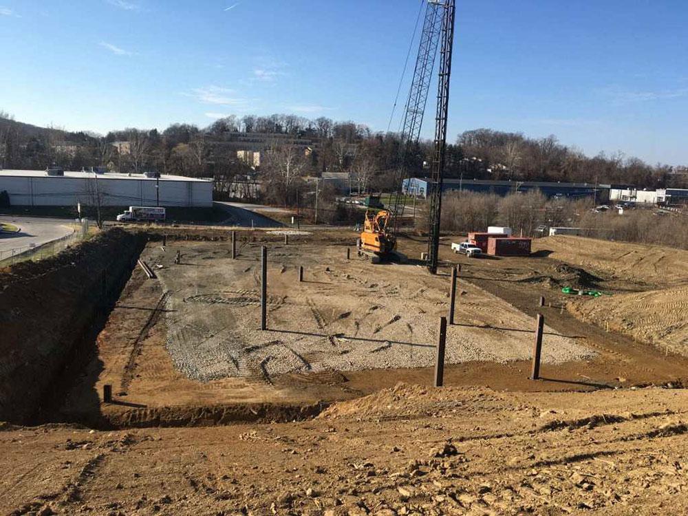 30,000 Square Foot Dirt Building Pad Prepared in King of Prussia, Pennsylvania