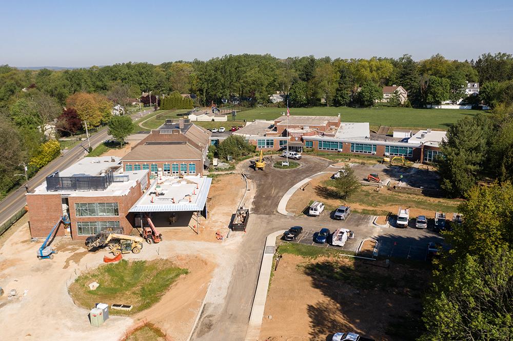 Berg Construction Repaving a Road and Circle Drive at a School